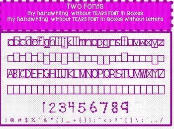 2 Fonts -My Handwriting without tears FONT