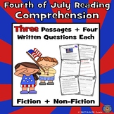 3 Fourth of July Reading Comprehension Passages: Summer Re