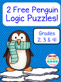 2 Free Tacky the Penguin Themed Logic Puzzles For Beginners! Gr. 2, 3 &4