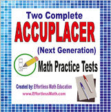 2 Full-Length Accuplacer Next Generation Math Practice Tests