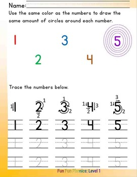 #2 Fun Fun Phonics (8 numbers pages) Complete Answer Key