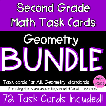 2.G.1, 2.G.2, and 2.G.3 Task Cards BUNDLE!
