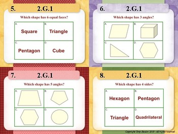 2.G.1 2nd Grade Math Task Cards - Reason with shapes and their attributes