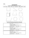 2.G.1 Identifying 2D, 3D Shape Assessment