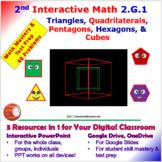 2.G.1 Math Interactive Test Prep – 5 Resources in 1: Shape