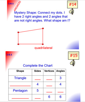 2.G.1 Math Interactive Test Prep: Shapes & Cubes in 3 Formats