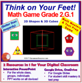 2.G.1 THINK ON YOUR FEET MATH! Interactive Test Prep Game—