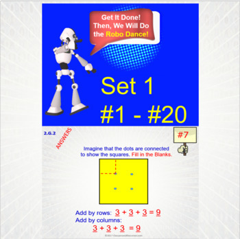 2.G.2 Math Interactive Test Prep – 5 Resources in 1: Partitioning Rectangles