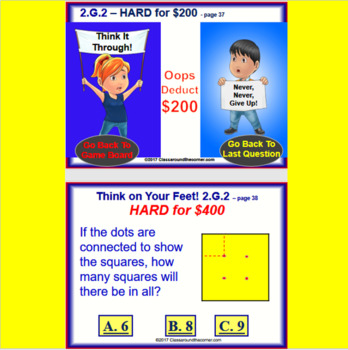 2.G.2 THINK ON YOUR FEET MATH! Interactive Test Prep Game—Partitioning