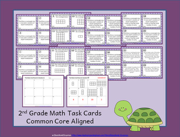2.G.2 Task Cards: Partition Rectangles Task Cards 2G2: Rectangles: Rows, Columns