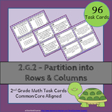 2.G.2 Task Cards ⭐ Partition Rectangles into Rows and Columns - Centers