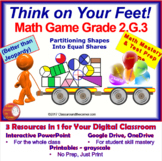 2.G.3 THINK ON YOUR FEET MATH! Interactive Test Prep Game-