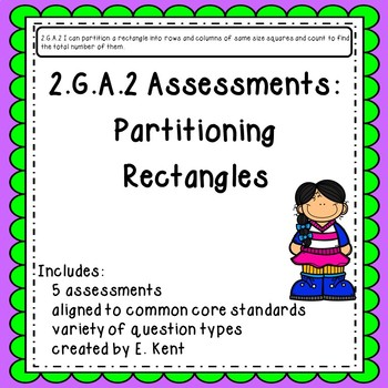 2.G.A.2 Assessments - Partitioning Rectangles