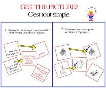 2 GET THE PICTURE GAMES:Le présent des verbes RE & Le prés