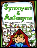 Synonyms & Antonyms Games, Worksheets, Craftivity
