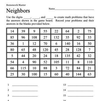 """2 Great Math Games: """"Sweep"""" and """"Neighbors"""""""