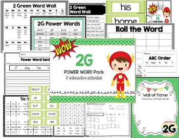 2 Green Power Word Pack