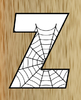 2 Halloween Spider Web Alphabets Digi Stamp - Multicolored - White - Clip Art