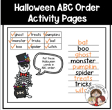 2 Halloween Words Alphabetical Order Activity Pages