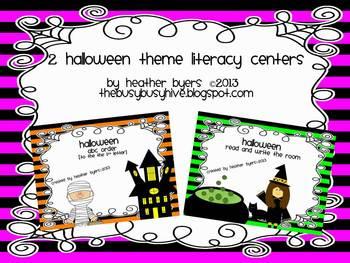 2 Halloween theme literacy centers