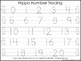 2 Hippo themed Task Worksheets. Trace the Alphabet and Numbers 1-20. Preschool