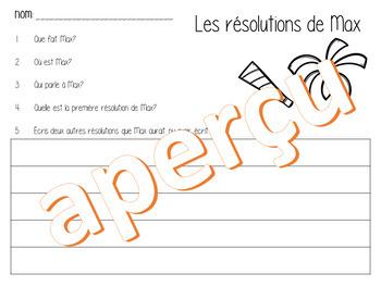 2 Histoires du Nouvel An à finir avec questions de compréhension - French - FSL