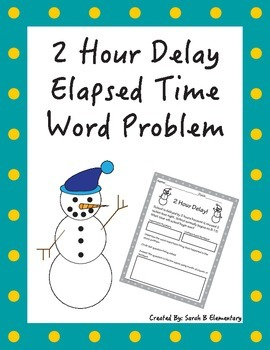 Elapsed Time Word Problem