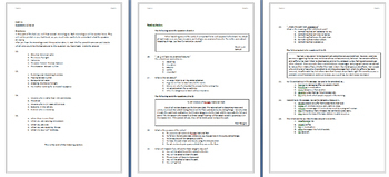 1hr 30 Mins - English Test - Listening and Reading - Answer Key Included