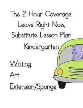 2 Hour No Prep Substitute Lesson Plan, Kindergarten, Set 3