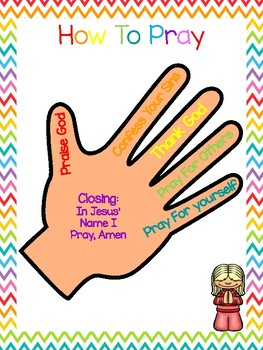 2 How To Pray Classroom Wall Charts and Posters  Preschool-5th Grade Bible  Study