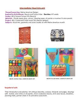 2 Intermediate Art Units: Native American Designs (Navajo and Calusa)