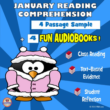 4 January Reading Comprehension Passages + 4 fun AUDIOBOOKS