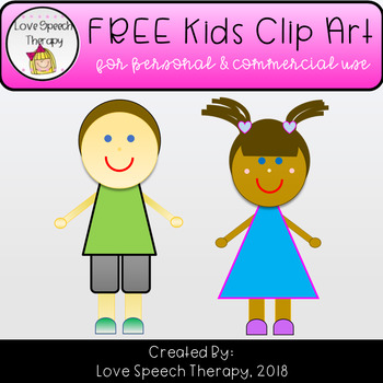 2 Kids FREEBIE Clip Art for Personal and Commercial Use Products