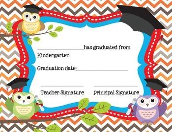 Kindergarten Certificates for Graduation