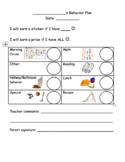 2 Kindergarten/Lower Elementary Behavior Plans with Pictures
