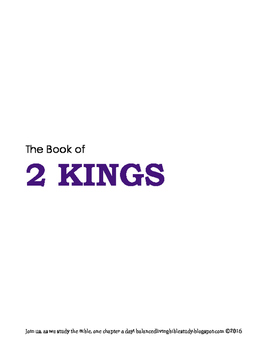 2 Kings WORD Guide