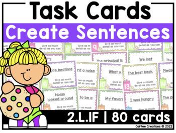 2.L.1f - 240 Task Cards BUNDLE (Expand, Combine, and Create Sentences)