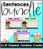 BUNDLE 2.L.1f - 240 Task Cards (Expand, Combine, and Create Sentences)
