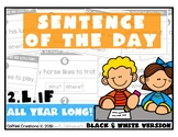 2.L.1f - Sentence of the Day - ALL YEAR LONG! (Black and W