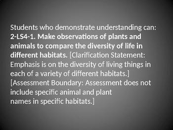 2 LS4-1 Diversity in Different Habitats: PowerPoint