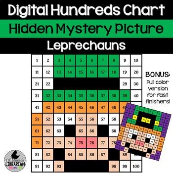 2 Leprechaun Hundreds Chart Hidden Picture Activities for St. Patrick's Day Math