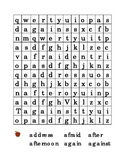 #2 Letter A Sight Word Search Puzzle Kindergarten Alphabet Recognition