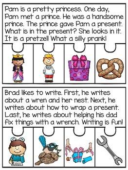 2 Letter Blends Fluency Puzzles (Blends Reading Passages)