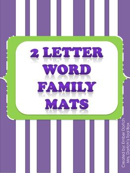 2 Letter Word Family Mats