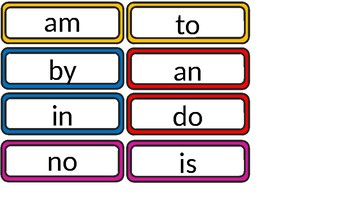 2 Letter Word, Word Wall, Flash Cards