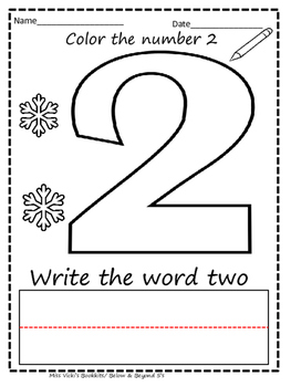 2 Little Snowman and Snowflake Math Activities
