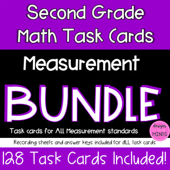 2.MD.1, 2.MD.2, 2.MD.3, 2.MD.4, and 2.MD.5 Task Cards Bundle