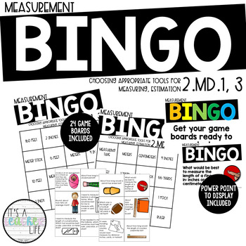 2.MD.1, 2.MD.3 | Measurement BINGO game