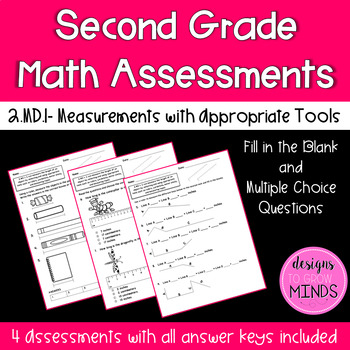 2.MD.1 Assessments- Measurements with Appropriate Tools