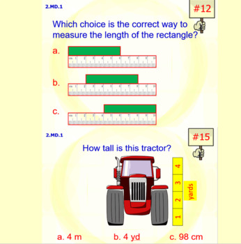 2.MD.1 Math Interactive Test Prep: Tools for Measurement – in 3 Formats